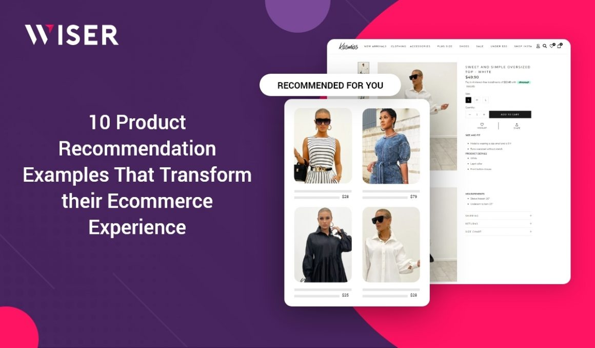 product recommendation examples